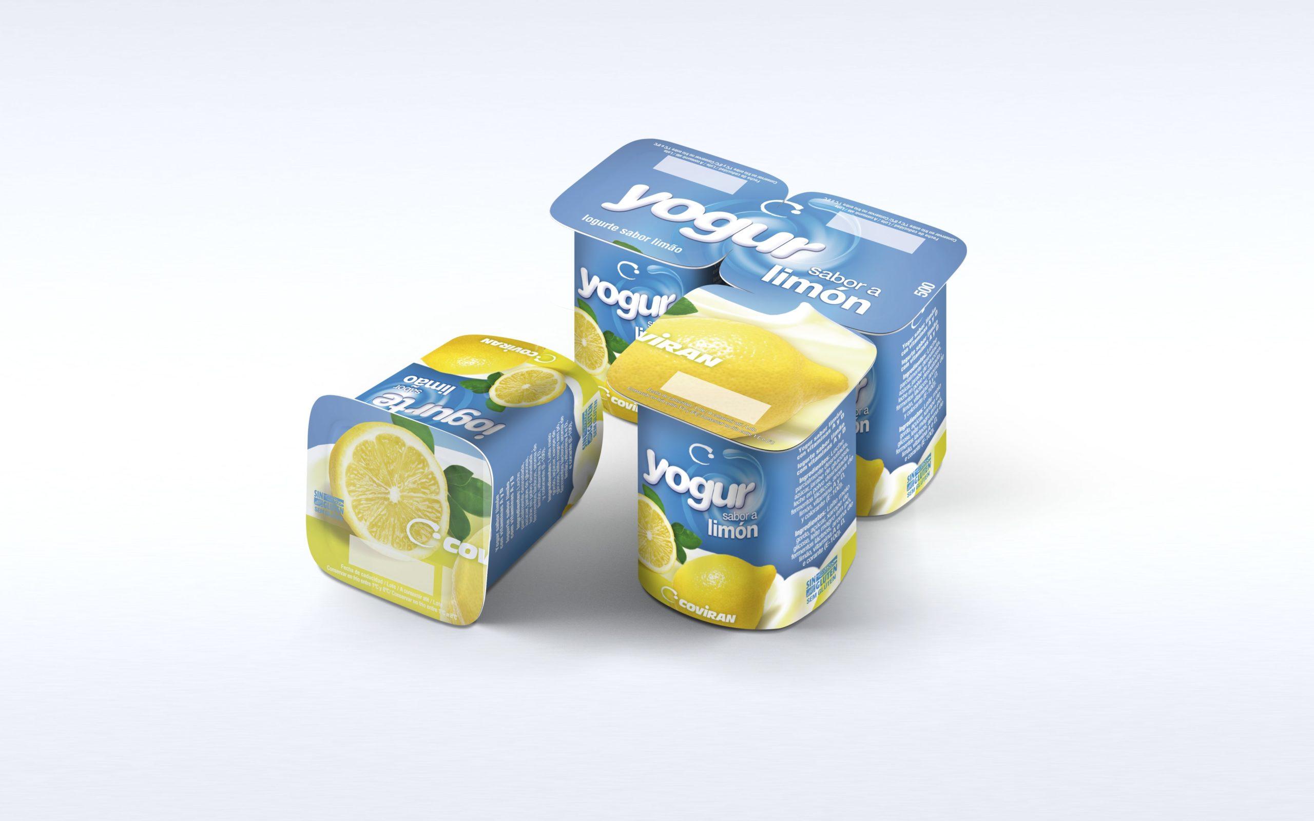 Diseño de marca yogures coviran limón